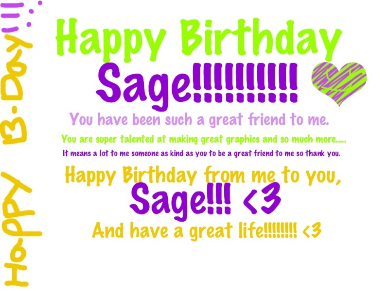 HAPPY BIRTHDAY SAGE!! Sa10