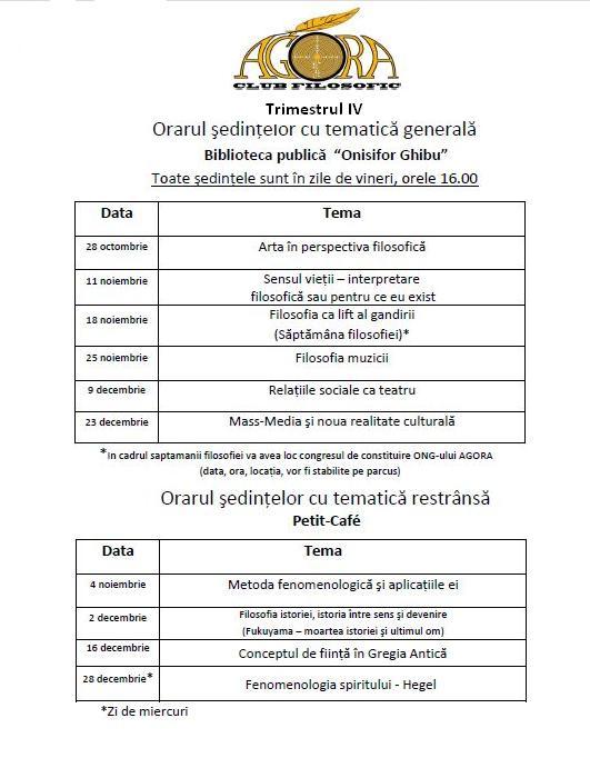 Orarul sedintelor Agora pentru trimestrul IV (octombrie-decembrie) Newpic11