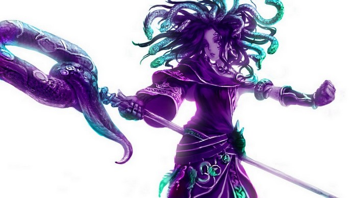 Prêtresse des ténèbres au regard de braise et à la chevelure de serpents ~ Medusa10