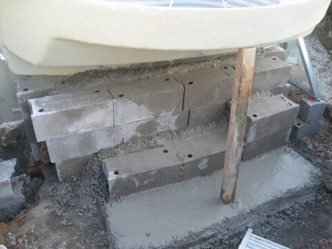 Escalier Roman Parpaings Ou Muret Pour Soutenir