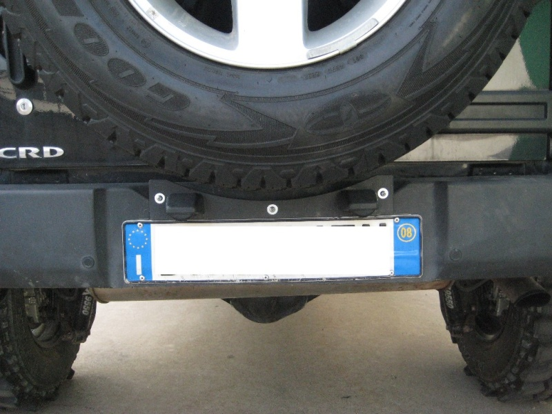 Modifica targa posteriore JK T710