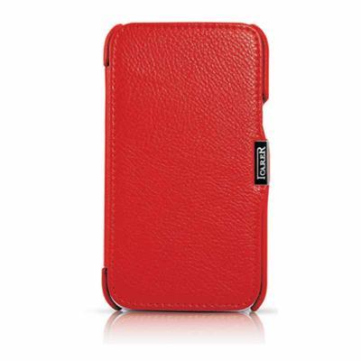 [ORDICA-STORE] Test de l'étui/Housse Volet Ouvrant Portefeuille Samsung Galaxy Note 2 - I-Carer - Rouge Icarer10