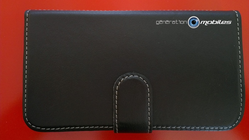 [ORDICA-STORE]  Test Housse Cuir Luxe Ouverture Portefeuille Avec Bequille Samsung Galaxy Note 2 - Pdair - Noir Imag0125