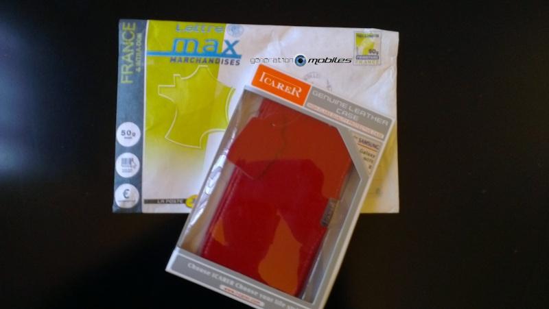 [ORDICA-STORE] Test de l'étui/Housse Volet Ouvrant Portefeuille Samsung Galaxy Note 2 - I-Carer - Rouge Imag0131