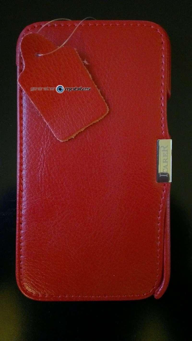 [ORDICA-STORE] Test de l'étui/Housse Volet Ouvrant Portefeuille Samsung Galaxy Note 2 - I-Carer - Rouge Imag0133