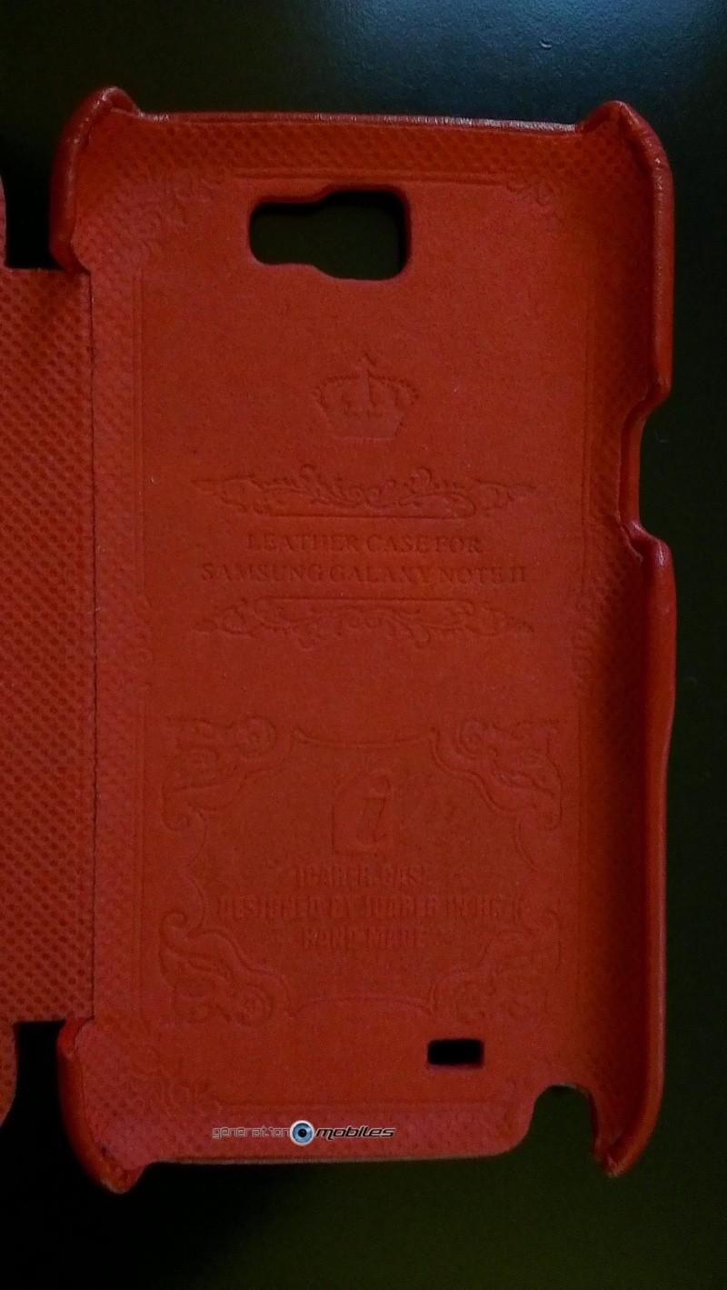 [ORDICA-STORE] Test de l'étui/Housse Volet Ouvrant Portefeuille Samsung Galaxy Note 2 - I-Carer - Rouge Imag0135