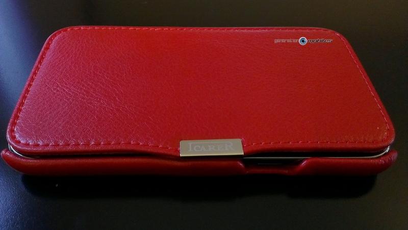 [ORDICA-STORE] Test de l'étui/Housse Volet Ouvrant Portefeuille Samsung Galaxy Note 2 - I-Carer - Rouge Imag0210