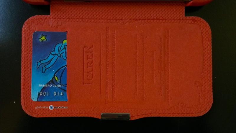 [ORDICA-STORE] Test de l'étui/Housse Volet Ouvrant Portefeuille Samsung Galaxy Note 2 - I-Carer - Rouge Imag0211
