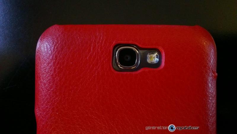 [ORDICA-STORE] Test de l'étui/Housse Volet Ouvrant Portefeuille Samsung Galaxy Note 2 - I-Carer - Rouge Imag0215
