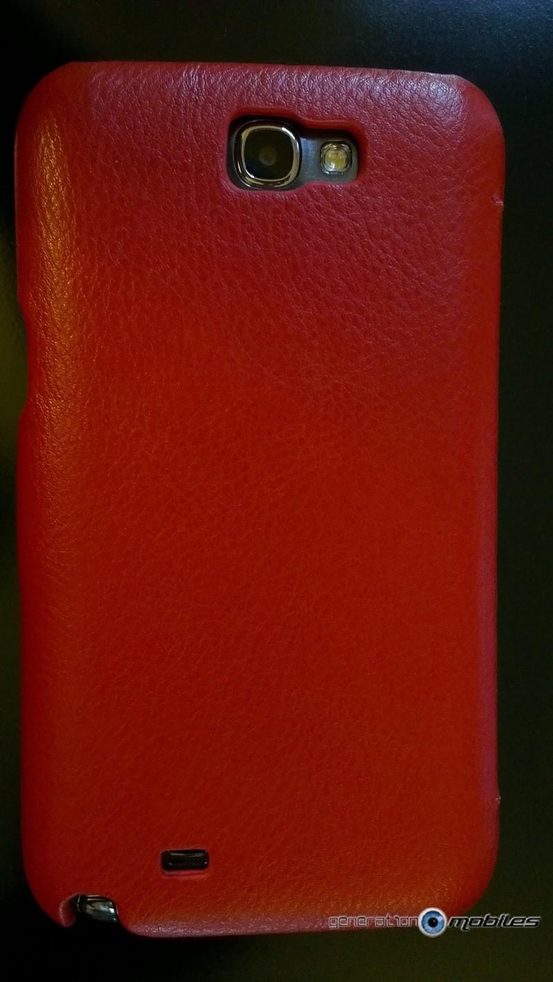 [ORDICA-STORE] Test de l'étui/Housse Volet Ouvrant Portefeuille Samsung Galaxy Note 2 - I-Carer - Rouge Imag0218