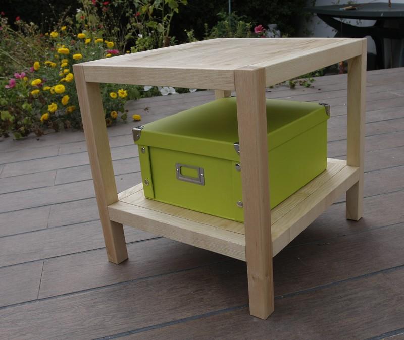 Une table basse bois et verre. 14_aou10