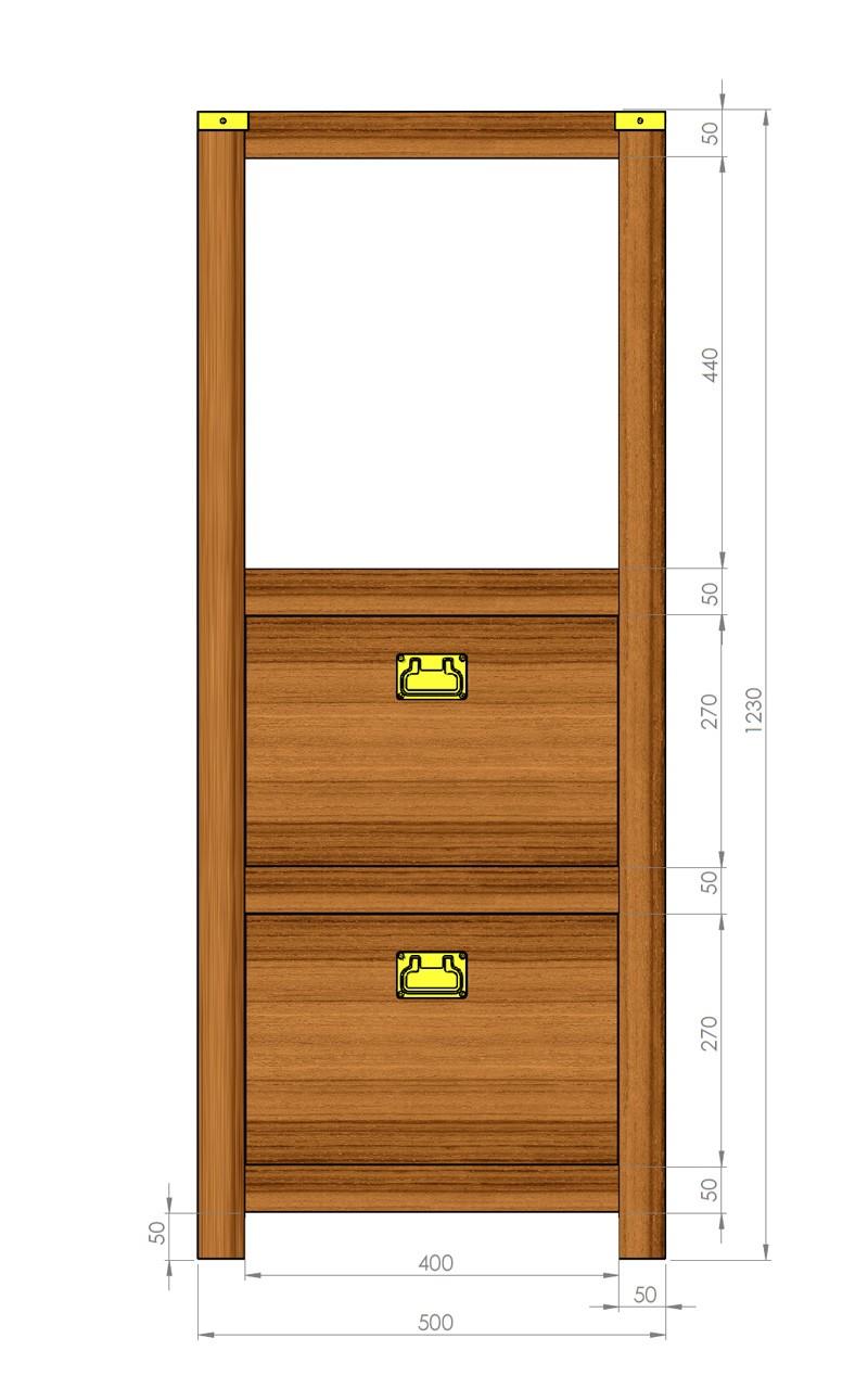 "Petit meuble ""marine"" Plan_m10"