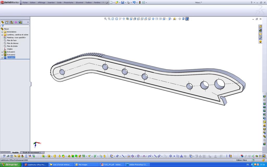 Utilisation d'un scan sous SolidWorks Pousso13