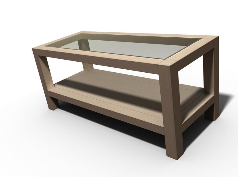 Une table basse bois et verre. Table_11