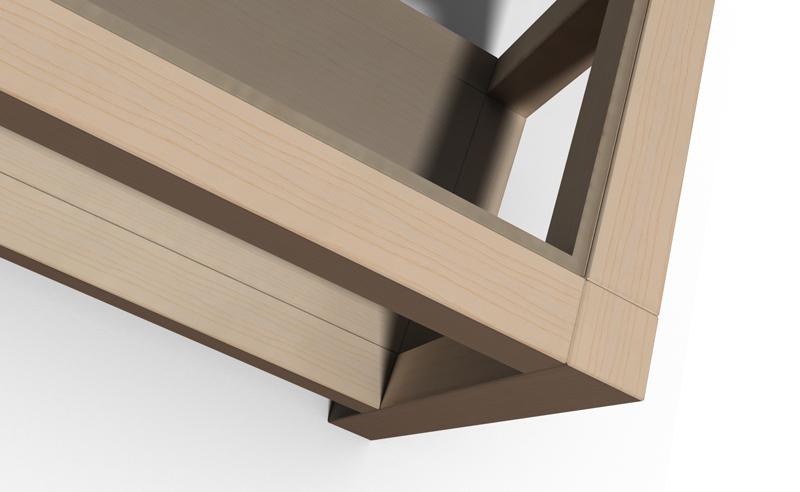 Une table basse bois et verre. Table_12
