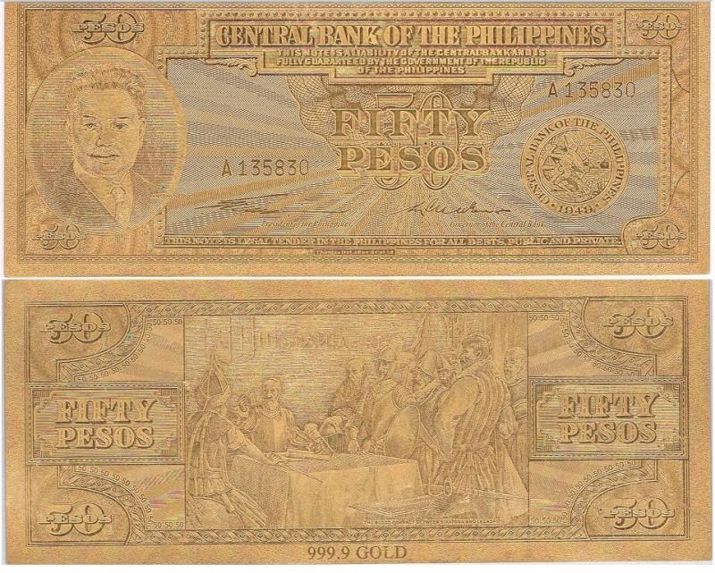 50 PESOS Gold Quirino-Cuaderno Banknote 50_pes10