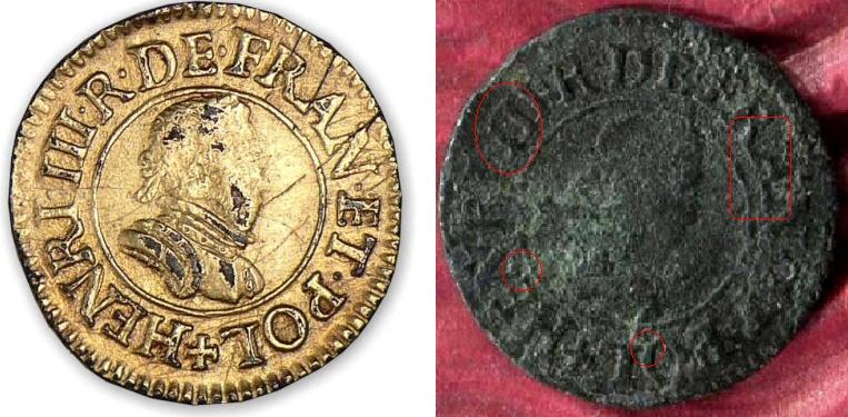 Denier tournois Henri III 1580/79 A  Hiii_d12