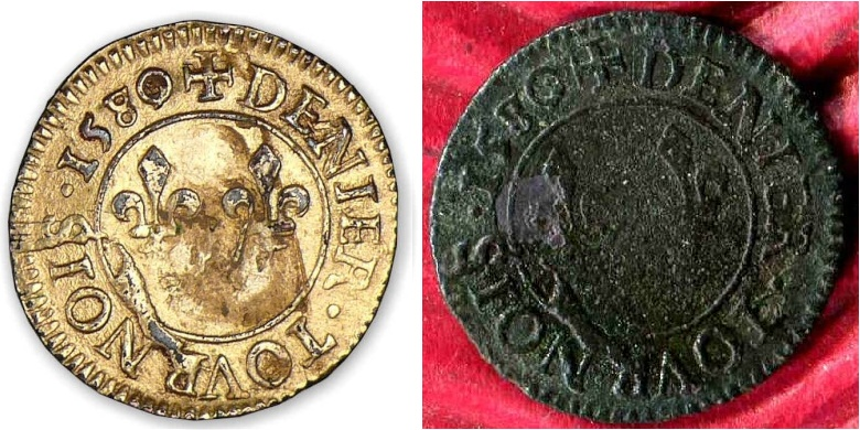 Denier tournois Henri III 1580/79 A  Hiii_f10