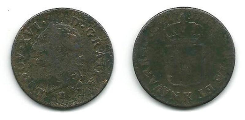 Louis XVI Demi-Sols,Sols,12 Deniers........ K_bord11
