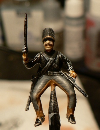 Tuto : peinture de figurines historiques ==> 3 Scott's Grey d'Italeri 13-110