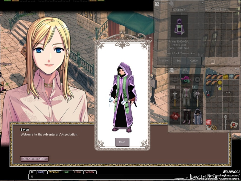 the preview on guild robe fails allot for me Mabino11