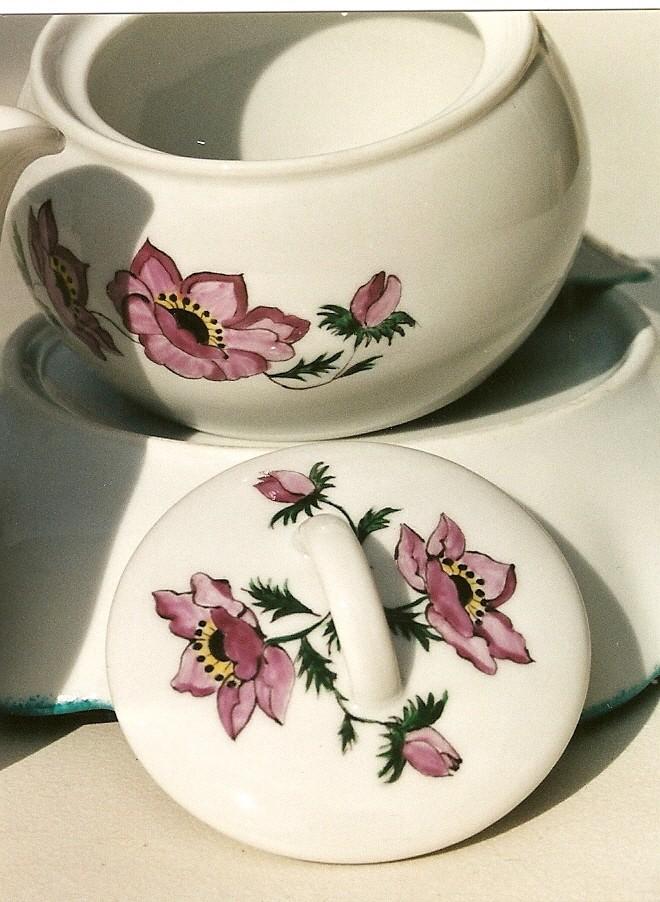 peinture sur porcelaine Sucrie10