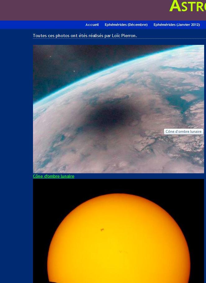 Ephemerides 2012 Astro110