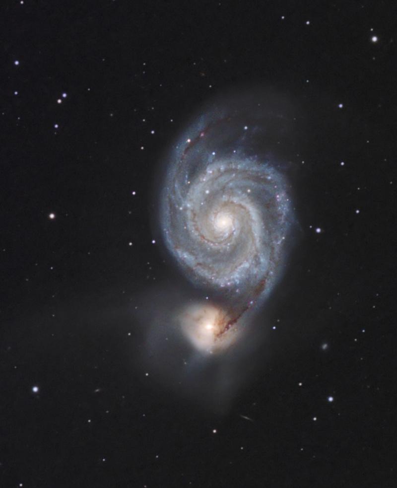 M51 AP155 et ST8300C Le passage M51_cr11