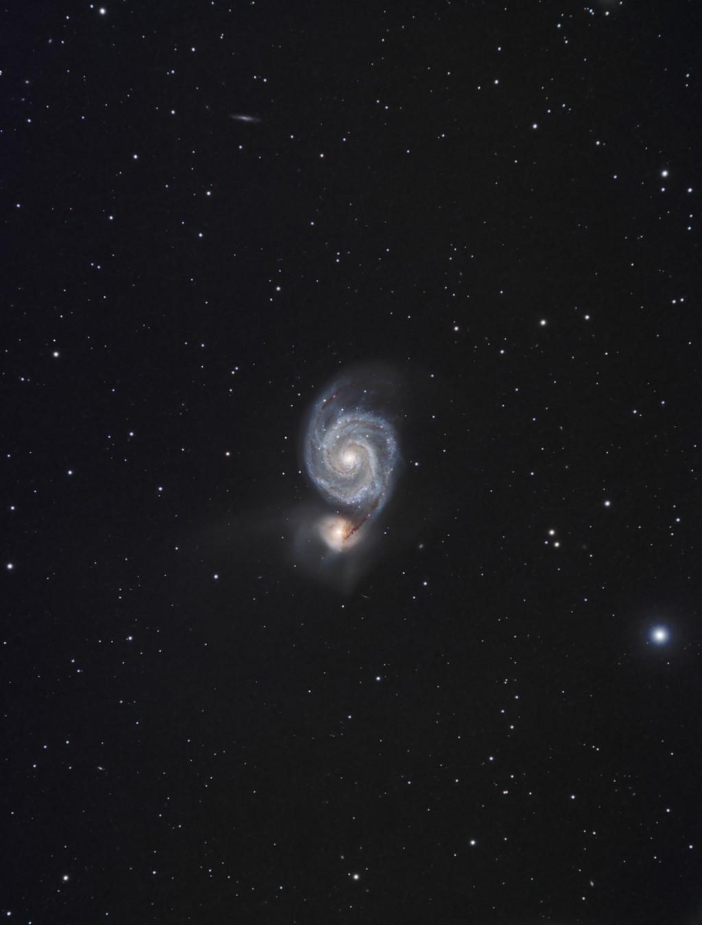 M51 AP155 et ST8300C Le passage M51_we12
