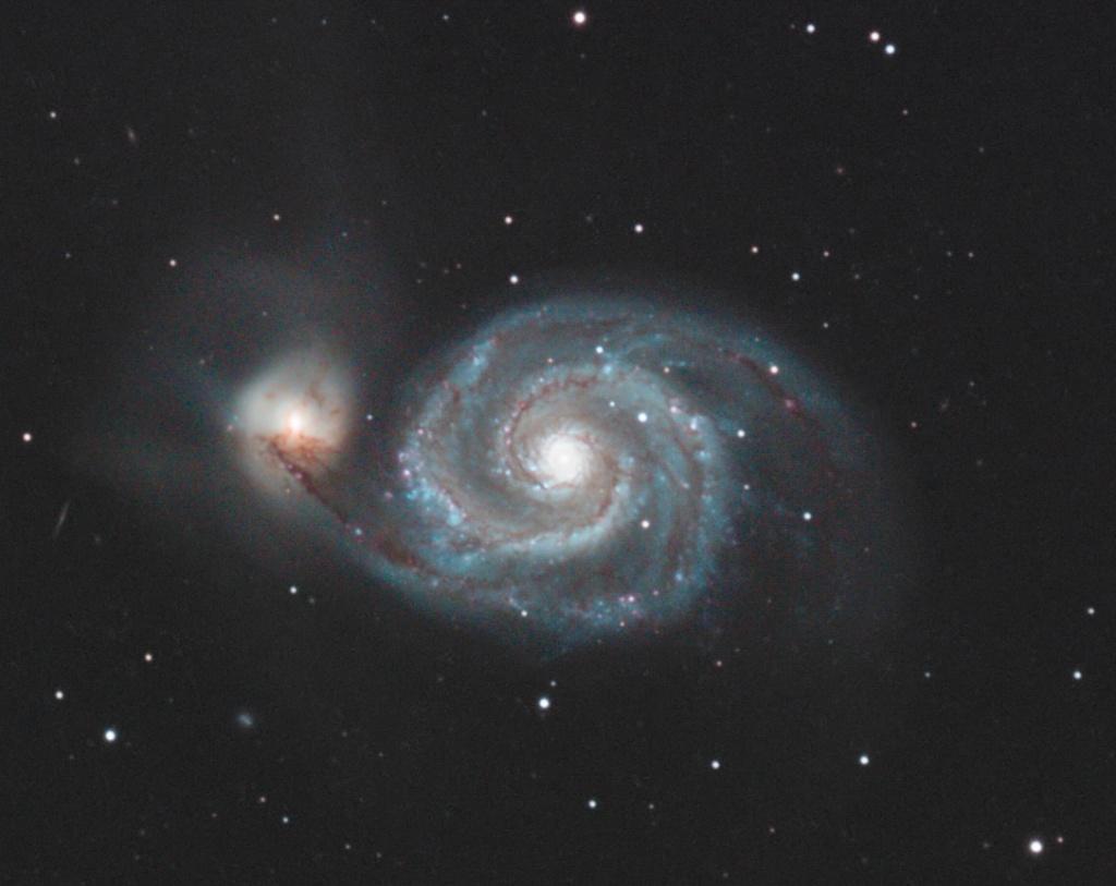 M51 AP155 et ST8300C Le passage M51cro10
