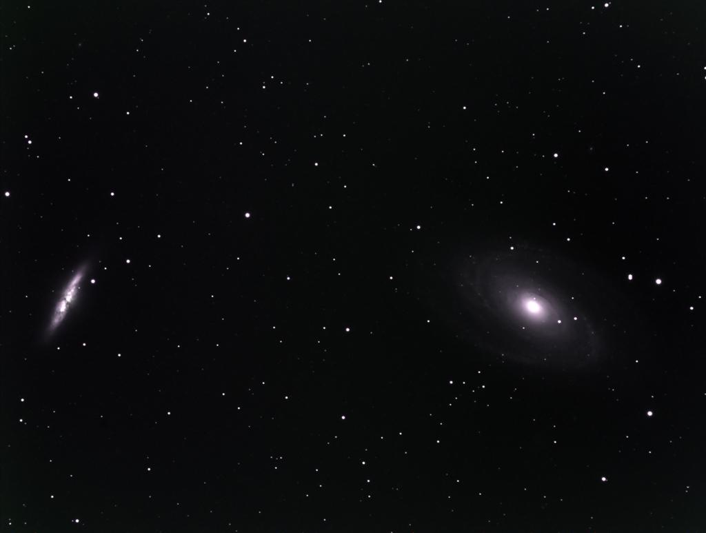 M81-M82 premiers essais caméra couleur SBIG8300 M8110