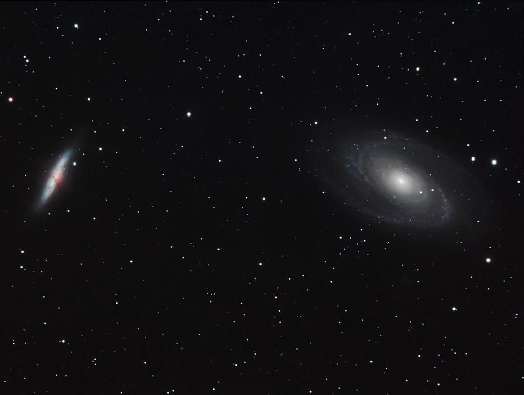 M81-M82 premiers essais caméra couleur SBIG8300 M8111