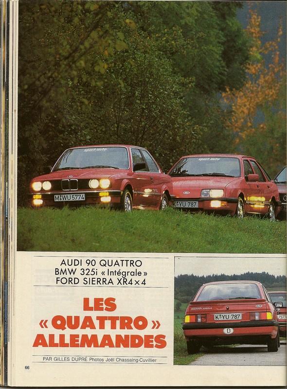 "Comparatifs ""QUATRO""  Sport Auto novembre 1985 Numar106"