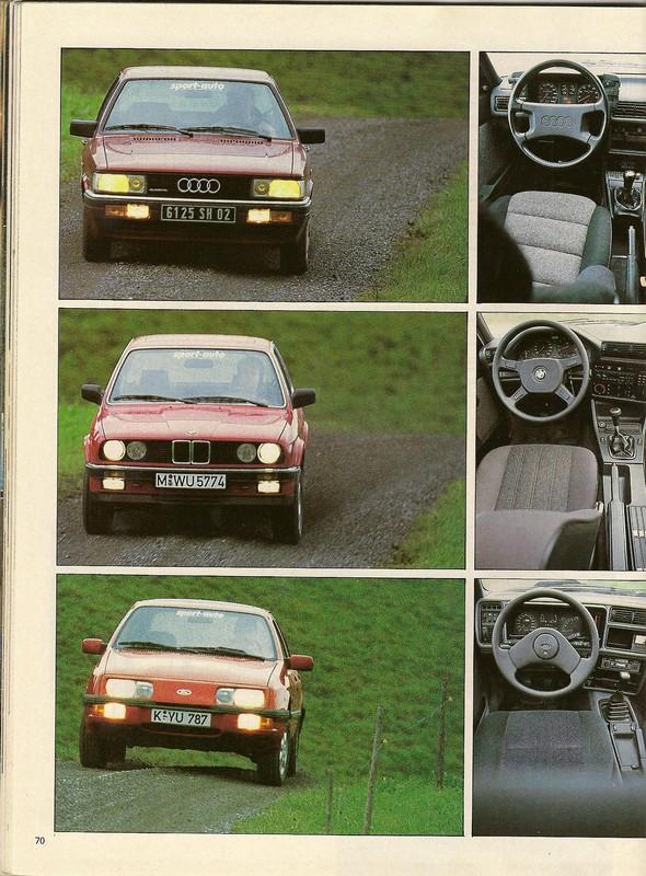 "Comparatifs ""QUATRO""  Sport Auto novembre 1985 Numar110"