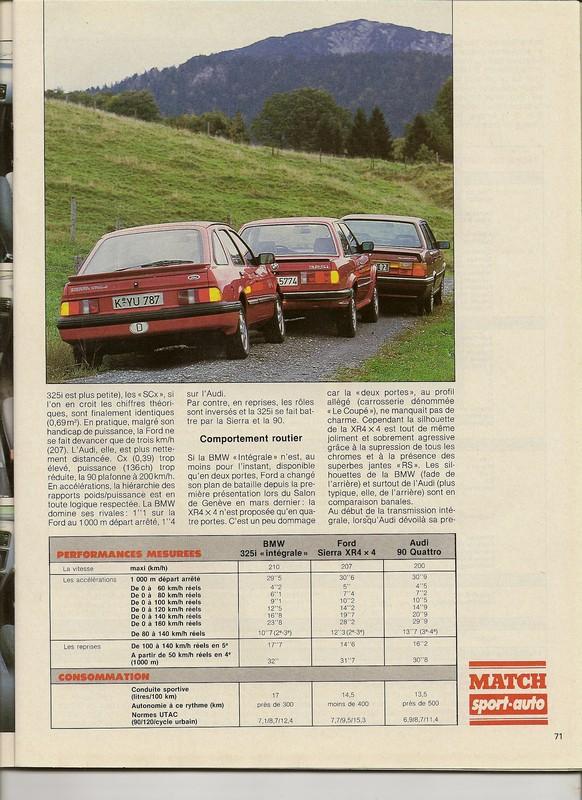"Comparatifs ""QUATRO""  Sport Auto novembre 1985 Numar111"
