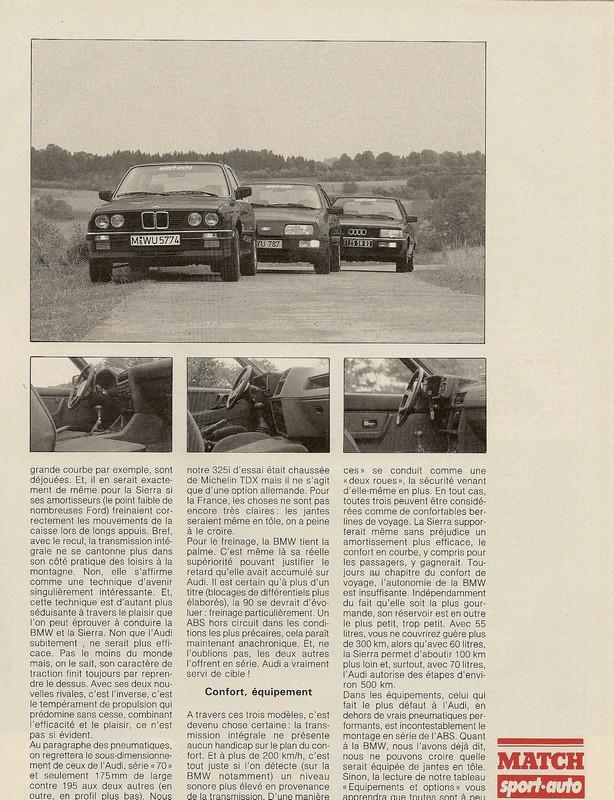 "Comparatifs ""QUATRO""  Sport Auto novembre 1985 Numar113"