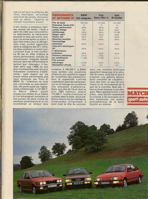"Comparatifs ""QUATRO""  Sport Auto novembre 1985 Numar114"