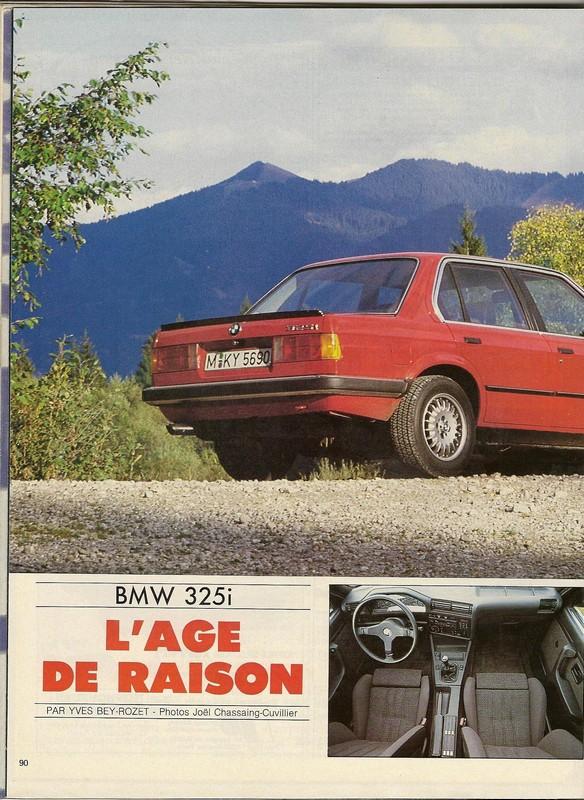 ESSAI 325i  Sport Auto novembre 1985 Numar115