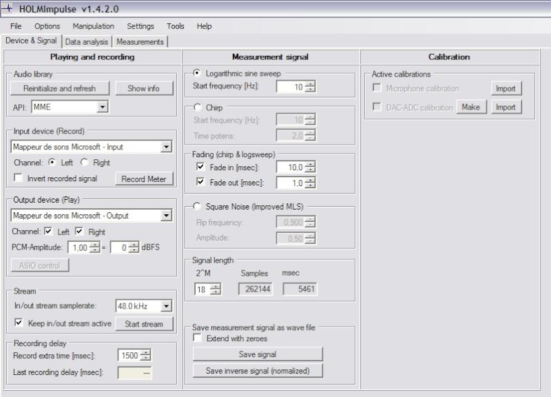 Mesure de calage de phase sur JBL Image110