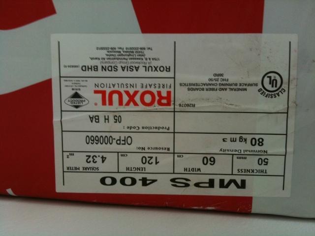 Roxul 80kg/m3 rock wool (SOLD) Photo_11