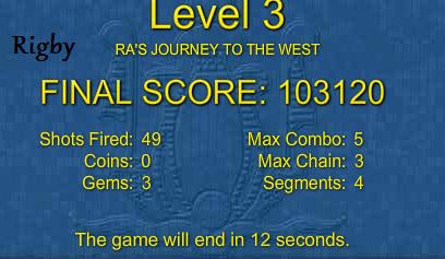 Games Tournament V - Round 4 - LUXOR Game310