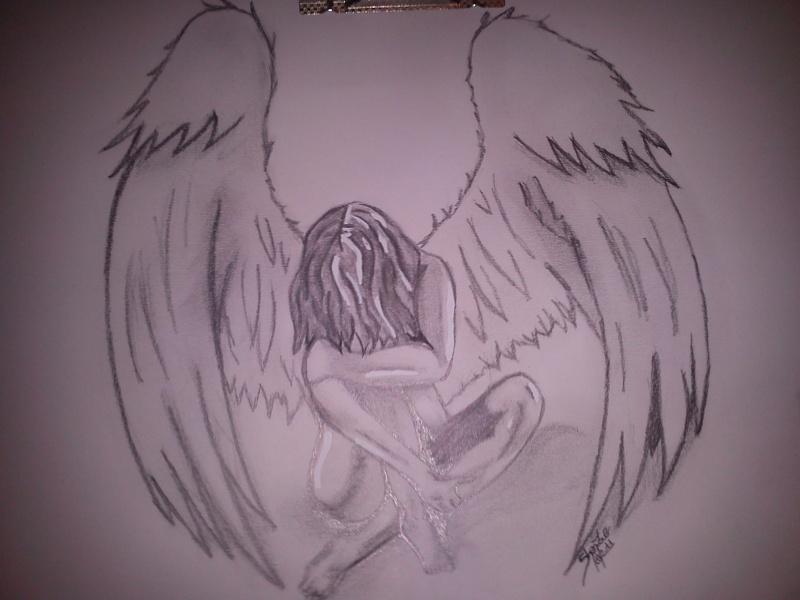 Dessin Ange Triste ange triste