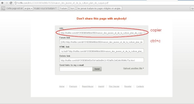 Comment poster un sujet qui contient un lien d'un document? Hoturl10