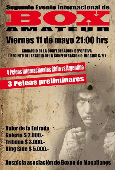 SEGUNDO FESTIVAL DE BOXEO AMATEUR INTERNACIONAL CHILE/ARGENTINA Dibujo17