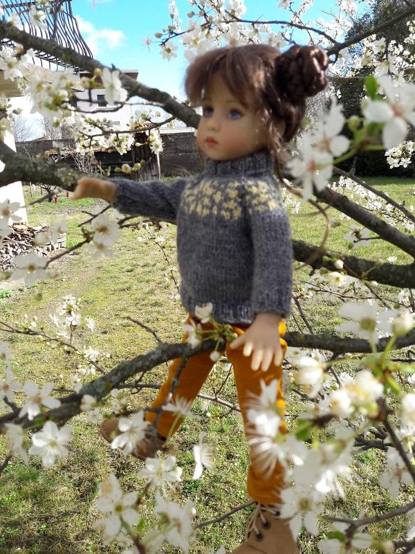 Solveig profite du faux printemps!! 20200213