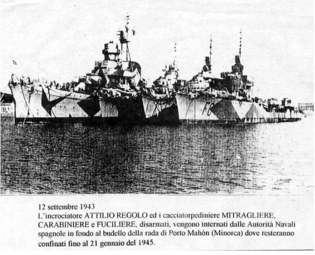 8 septembre 1943,la flotte italienne se rend aux Alliés Attili10
