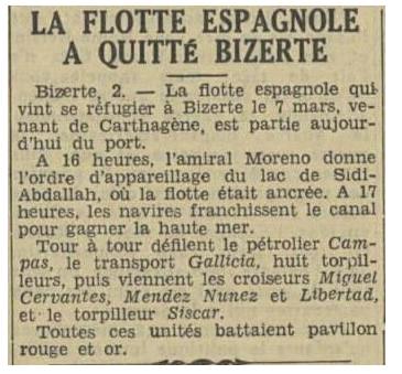 Juillet 1936à avril 1939; marine espagnole la guerre civile Bizert10