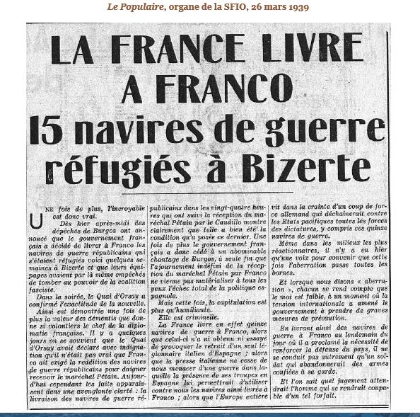Juillet 1936à avril 1939; marine espagnole la guerre civile Bizert11