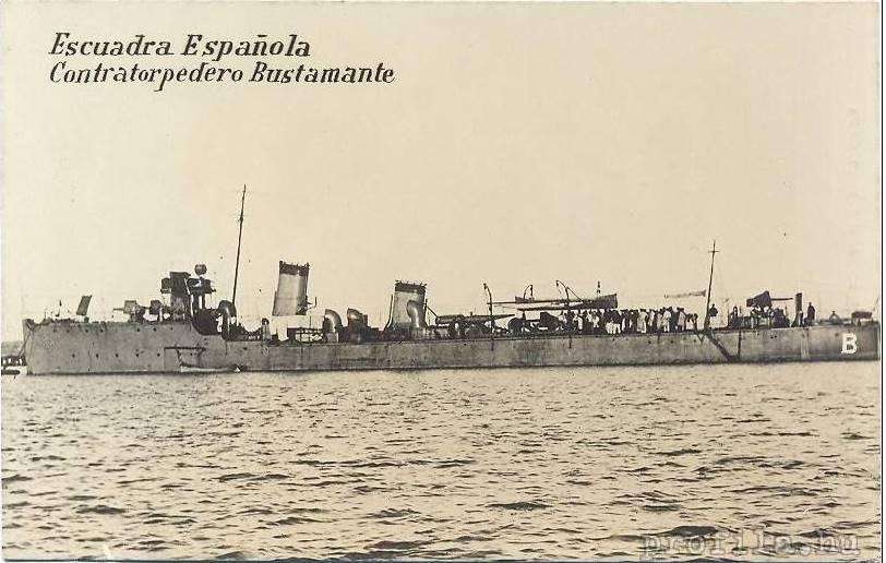 Destroyers; torpilleurs et avisos torpilleurs espagnols Bustam10