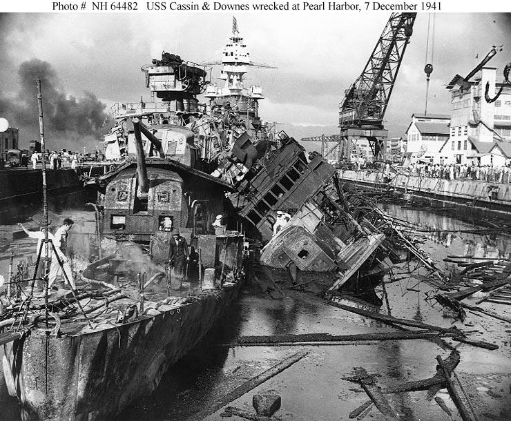 Le 7 décembre 1941,le Japon attaque Pearl Harbor - Page 5 Cassin10